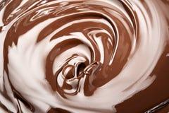 Gesmolten chocolade Royalty-vrije Stock Foto's