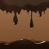 Gesmolten chocolade het druipen reeks op witte achtergrond Stock Fotografie