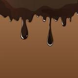Gesmolten chocolade het druipen reeks op witte achtergrond Royalty-vrije Stock Afbeelding