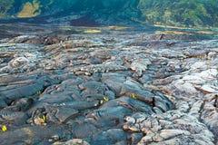 Gesmolten gekoeld lavalandschap Royalty-vrije Stock Afbeeldingen