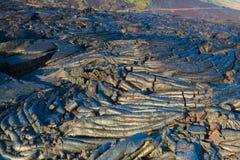 Gesmolten gekoelde lava Royalty-vrije Stock Afbeelding