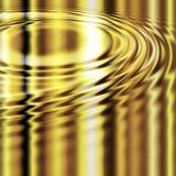 Gesmolten gouden rimpelingen Royalty-vrije Stock Afbeeldingen