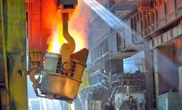 Gesmolten heet staal royalty-vrije stock afbeeldingen
