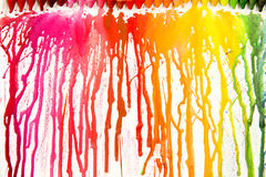Gesmolten kleurpotloden op canvas Royalty-vrije Stock Foto's