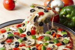 Gesmolten pizza Royalty-vrije Stock Foto's