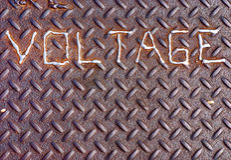 Gesmolten Voltage royalty-vrije stock fotografie