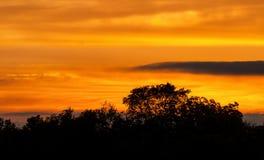 Gesmolten wolken Stock Foto