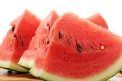Gesneden ââwatermelon Royalty-vrije Stock Afbeeldingen