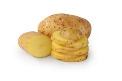 Gesneden aardappels Royalty-vrije Stock Foto's