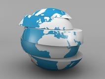 Gesneden aarde royalty-vrije illustratie