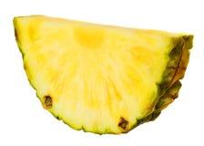 Gesneden ananasfruit op witte achtergrond Macro Stock Afbeelding