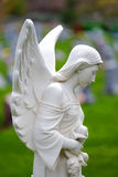 Gesneden Angel Marble Headstone stock foto's