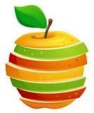 Gesneden appel stock illustratie