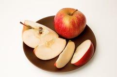 Gesneden appel Stock Afbeeldingen