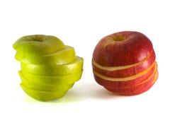 Gesneden appelen Royalty-vrije Stock Foto's