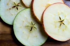 Gesneden appelen Stock Foto