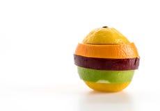 gesneden appelen en oranje fruit Royalty-vrije Stock Afbeelding