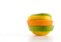 gesneden appelen en oranje fruit Stock Foto