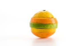 gesneden appelen en oranje fruit Royalty-vrije Stock Fotografie