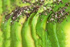 Gesneden Avocado geweven Achtergrond Gesneden avocadopatroon met Royalty-vrije Stock Afbeelding
