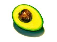 Gesneden avocado op witte achtergrond royalty-vrije stock afbeeldingen