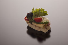 Gesneden baguette met kaas Royalty-vrije Stock Fotografie