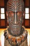 Gesneden binnenland van een huis van de Maorivergadering royalty-vrije stock afbeelding