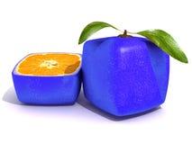 Gesneden blauw citroenfruit Stock Foto