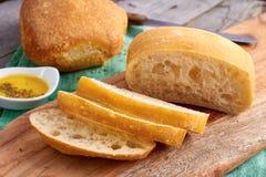 Gesneden brood Ciabatta Stock Foto's