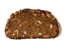 Gesneden brood dat op wit wordt geïsoleerd Royalty-vrije Stock Foto's