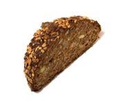 Gesneden brood dat op wit wordt geïsoleerdt Stock Foto's