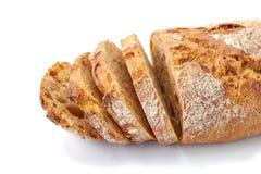 Gesneden brood op wit Royalty-vrije Stock Afbeelding