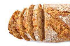 Gesneden brood op wit Royalty-vrije Stock Fotografie