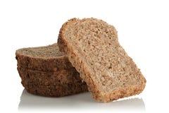 Gesneden brood, volkorenmeel, met zaden stock foto