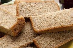 Gesneden bruin brood Stock Fotografie