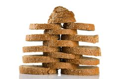 Gesneden bruin brood Royalty-vrije Stock Fotografie