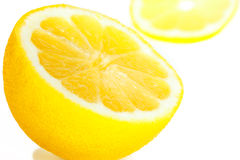Gesneden citroen Royalty-vrije Stock Afbeeldingen