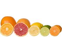 Gesneden citrusvruchten Stock Afbeeldingen