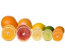 Gesneden citrusvruchten stock fotografie
