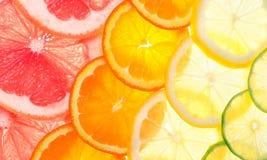 Gesneden citrusvruchten royalty-vrije stock foto