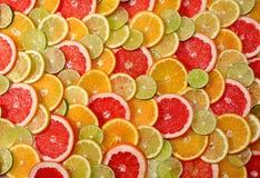 Gesneden citrusvruchtenachtergrond Royalty-vrije Stock Afbeelding