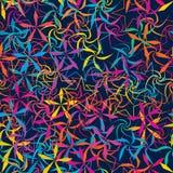Gesneden de ster swril roteert kleurrijk naadloos patroon royalty-vrije illustratie