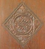 Gesneden detail op meubilairvorm 19. cent. Stock Afbeelding