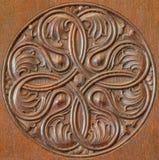 Gesneden detail op meubilairvorm 19. cent. Stock Foto's