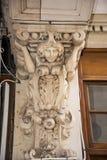 Gesneden Detail in Winkelcomplex in Chester England stock afbeeldingen