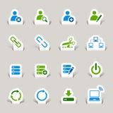 Gesneden document - de Pictogrammen van de Website en van Internet Royalty-vrije Stock Afbeelding