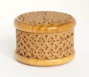 Gesneden doos die van berkeschors wordt gemaakt Royalty-vrije Stock Afbeeldingen