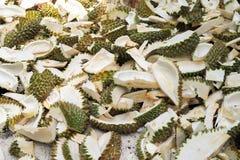 Gesneden Durian-Schil royalty-vrije stock foto