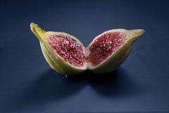 Gesneden fig. Royalty-vrije Stock Afbeeldingen