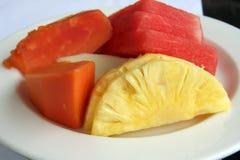 Gesneden fruit stock afbeelding